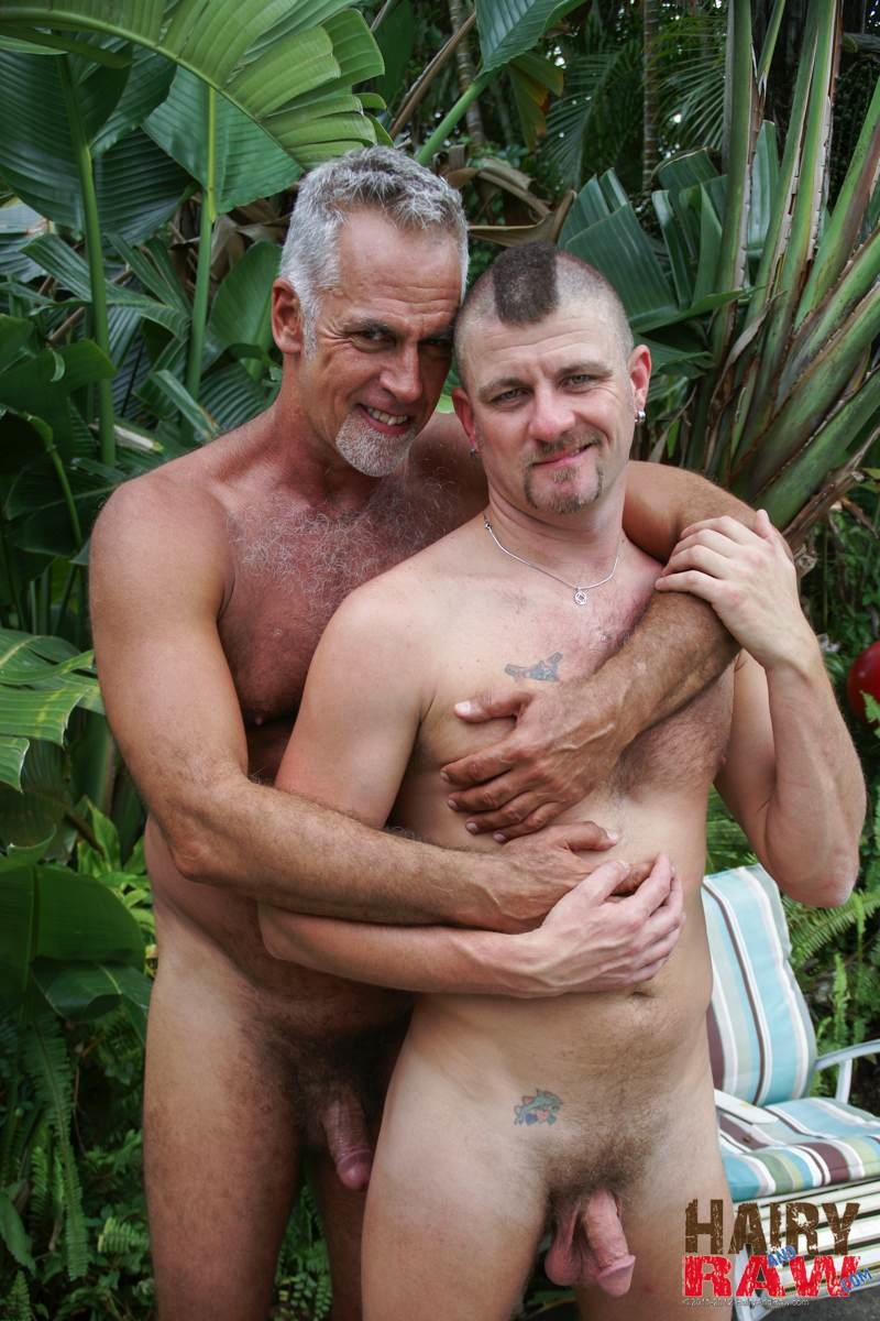 Amateur Hairy Silver Daddy With Thick Cock Barebacks His Hung Pool Boy