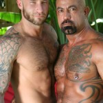 Butch-Dixon-Bo-Bangor-and-Drake-Jaden-Barebacking-Daddy-Muscle-Tatted-Stud-Amateur-Gay-Porn-09-150x150 Tatted Muscle Daddy Fucks His Younger New Neighbor Outside
