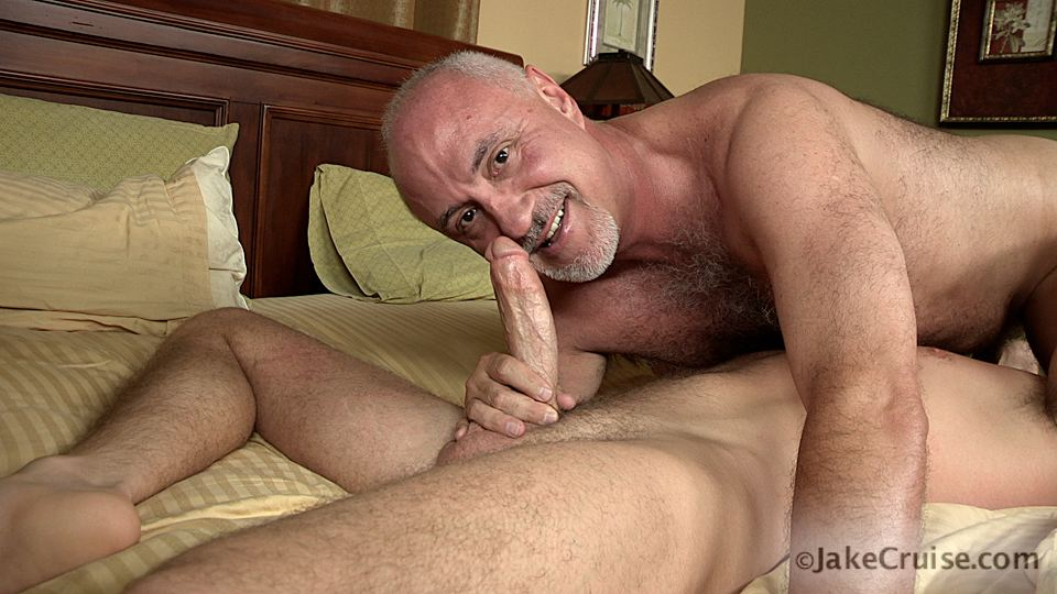 Jake Cruise Lucas Knight Hairy Daddy Sucks A Big Boy Cock Amateur Gay Porn 11 Jake Cruise: Daddy Sucks A Huge Younger Cock Until It Shoots