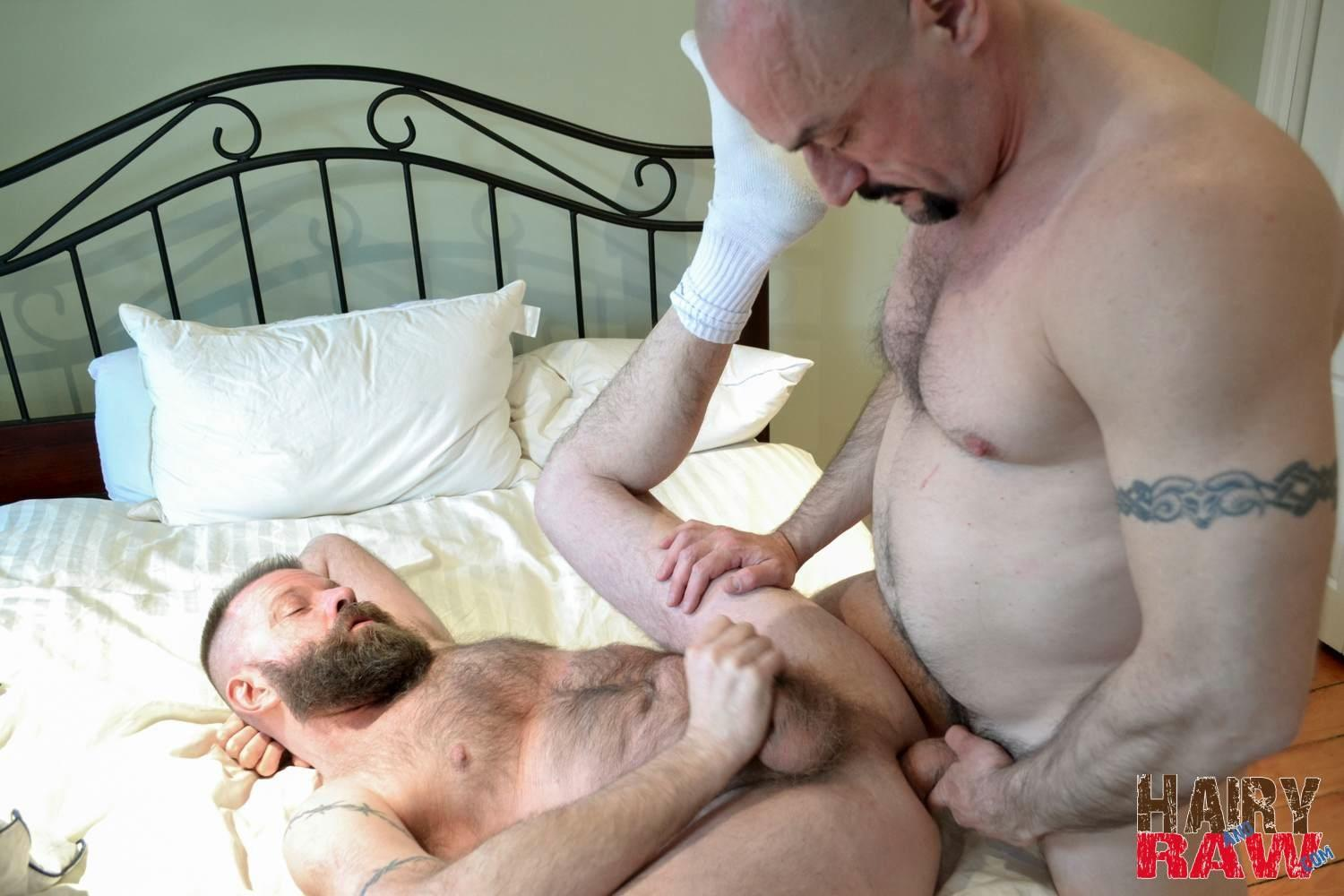 Hairy-and-Raw-Troy-Collins-and-CanaDad-Masculine-Hairy-Daddies-Fucking-Bareback-Amateur-Gay-Porn-14 Hairy Masucline Daddies Flip Flop Fucking Bareback