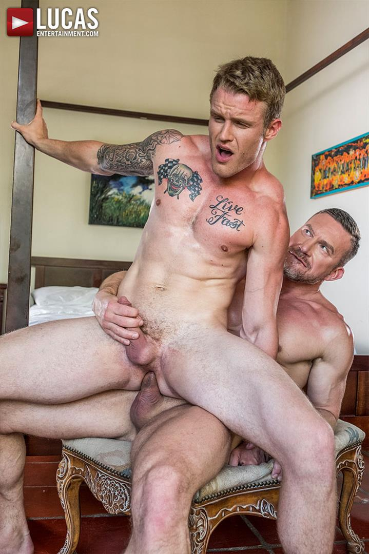 Lucas-Entertainment-Shawn-Reeve-and-Tomas-Brand-Bareback-Daddy-Sex-12 Bareback Riding A Thick Uncut Daddy Dick