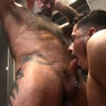 Victor-Cody-XXX-Nate-Pierce-and-Cesar-Xes-Bareback-Bathhouse-Sex-09-150x150 Getting Fucked By A Hairy Daddy In The Bathhouse Shower