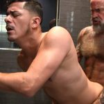 Victor-Cody-XXX-Nate-Pierce-and-Cesar-Xes-Bareback-Bathhouse-Sex-13-150x150 Getting Fucked By A Hairy Daddy In The Bathhouse Shower